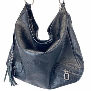 Charles Jourdan Malika hobo black leather bag